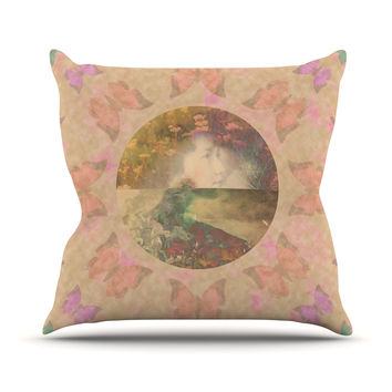 "Deepti Munshaw ""Rebirth"" Butterfly Circle Throw Pillow"