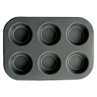 "Evelots 6 Cup Non-Stick Metal Muffin Pan Durable Baking Supplies(10"" X 7"" X 1"")"