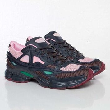ONETOW Raf Simons x Adidas Consortium Ozweego 2 Night Marine Pink Women Men Casual Trending Running Sports Shoes Sneakers