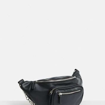 Missguided - Black Chain Link Bumbag