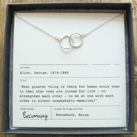 Joined For Life Rings Necklace Sterling Silver