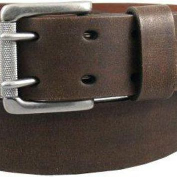 Levi's Men's 1 9/16 In. Genuine Leather Two Pronged Buckle Belt (with Big & Tall Sizes)