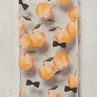 Munich-based artist and designer Monika Strigel Peaches + Bowties iPhone 6 Case in Clear Size: One Size Tech Essentials