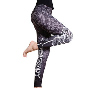 Women's 2018 New Print Leggings/Yoga Pants/Tights