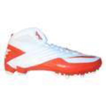 Nike Super Speed D 3/4 Men's Size 12.5 Football Cleats White/Orange