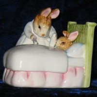 Vintage Schimd Music Box Beatrix Potter 'Get Well Bunny' - Gift-collectible-home decor-nursery
