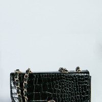 Nora Mock Croc Shoulder Bag