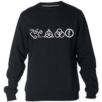 Led zeppelin icon Sweatshirt Sweater Crewneck Men or Women Unisex Size