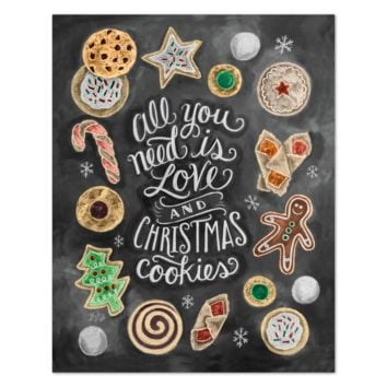 All You Need Is Love & Christmas Cookies - Print & Canvas