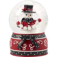 "Precious Moments ""May All Your Christmases Be White"", Eighth in Annual Snowman Series, Musical Snow Globe"