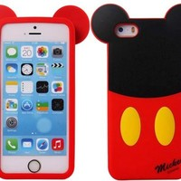 Huaxia Datacom Cute Cartoon Disney Monster University Animals Soft Silicone Back Case Cover for Apple iPhone 5 5S (not for 5C) - Mickey