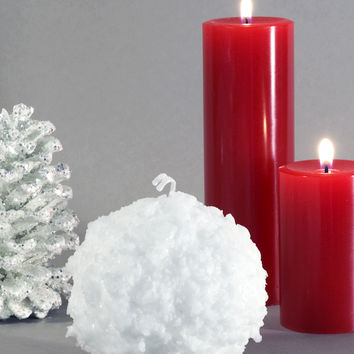 Snowball Candle 3""