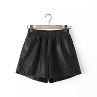 LMFCT9 Winter Star Casual Rinsed Denim High Rise Pants Shorts [8997661895]