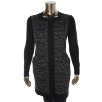 Adrianna Papell Womens Woven Knit Basic Coat
