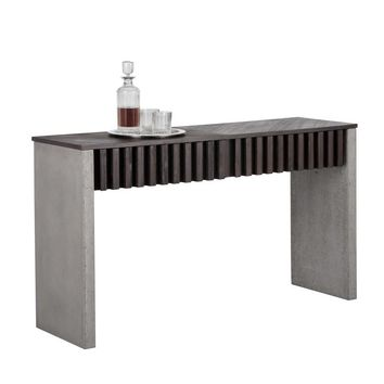 BAND CONCRETE BROWN CONSOLE TABLE