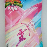 Mighty Morphin Power Rangers Pink Ranger Clutch Bag - Upcycled Comic Book Purse