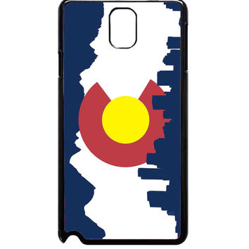 Colorado Flag With Skyline For Samsung Galaxy Note 3 Case ***