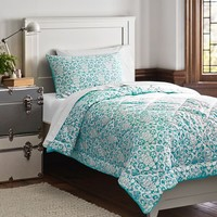 Damask Essential Value Bedding Set, Pool