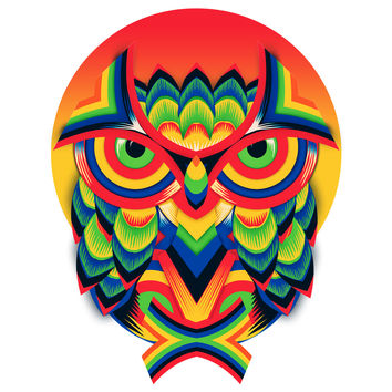 Ali Gulec's Angry Owl Wall Decal