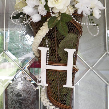 Wedding Decoration, Bridal Shower Decoration, Wedding Door Hanger, Bridal Shower Door Hanger, Monogram Wedding Gift