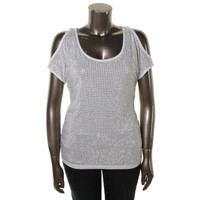INC Womens Knit Studded Pullover Top