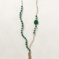 Royal Fireworks Necklace by Anthropologie Green One Size Necklaces