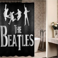 "the beatles Custom Shower curtain,Sizes available size 36""w x 72""h 48""w x 72""h 60""w x 72""h 66""w x 72""h"