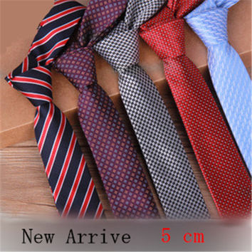 New Arrival Men's ties 5cm narrow a Korean version of skinny tie casual fashion wind of England married narrow necktie