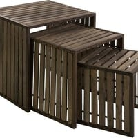 CKI Vermont Iron and Wood Nesting Tables - Set of 3 - Free Shipping!