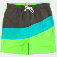 Wellen Racer Mens Volley Shorts Lime  In Sizes
