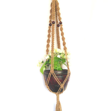 jute Macrame plant hanger, plant holder /pot hanger/ hanging planter indoor outdoor