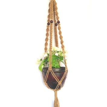 Jute Macrame Plant Hanger Plant Holder From