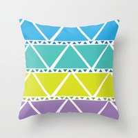 Cool Tribal Throw Pillow by Michelle Albert | Society6