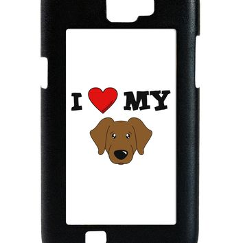 I Heart My - Cute Chocolate Labrador Retriever Dog Galaxy Note 2 Case  by TooLoud