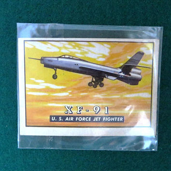 TOPPS Wings Trading Card, Vintage Airplane Collectible Card, Card Number 9, 1952 Collectors Card