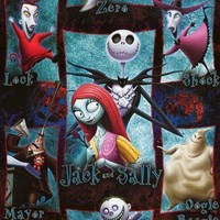 Nightmare Before Christmas Movie Cast Poster 22x34