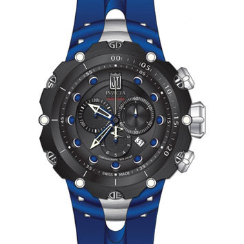 Invicta 14420 Men's Jason Taylor Reserve Black Dial Blue Rubber Strap Chronograph Dive Watch