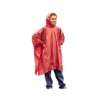 StanSport Light Duty Youth Hooded Rain Poncho .. Assorted colors .. New