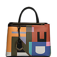 Fendi - 2Jours Petite Abstract Shopper - Saks Fifth Avenue Mobile