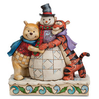 Disney Winnie the Pooh and Tigger ''Winter Hugs'' Figure by Jim Shore | Disney Store