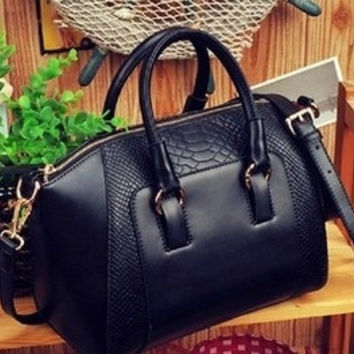 2015 New women handbag fashion brief crocodile pattern shoulder bags women messenger bags women leather handbags leather bags = 1754094724