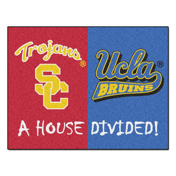 USC Trojans - UCLA Bruins House Divided NCAA All-Star Floor Mat (34x45)