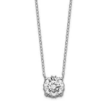925 Sterling Silver Rhodium-Plated Cubic Zirconia Necklace