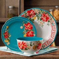 The Pioneer Woman Vintage Floral 12-Piece Dinnerware Set - Walmart.com