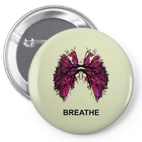 breathe Pin-back button