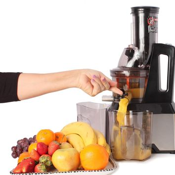 New Century® Stainless Steel Slow Masticating Juice Extractor