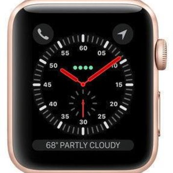 Apple Watch Series 3 42mm Gold Aluminium Case with Pink Sand Sport Band (GPS...