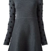 Thakoon Addition polka dot arms knitted dress