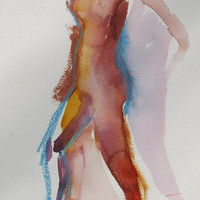 Movement  Original watercolor by May Hiddleston