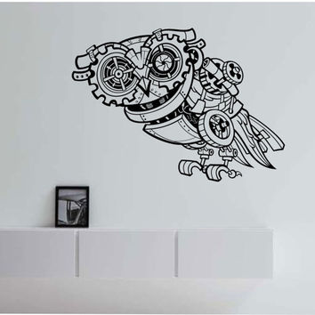 SteamPunk Owl Vinyl Wall Decal Sticker Art Decor Bedroom Design Mural sugar skull